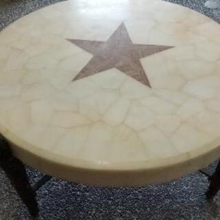【お値下げしました】大理石風ローテーブル