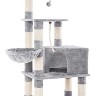 【新品未使用】 キャットタワー 大型猫用 太め柱 コンパクト 巨...