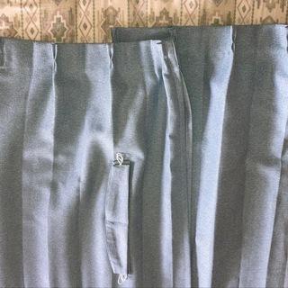 カーテン 2枚 クロップ 幅約100×丈約190cm アジャスタ...