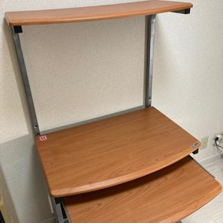 【値下げ】パソコンラック スライド式テーブル・プリンタ台付き