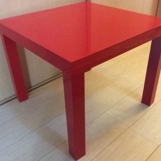 無料 IKEA サイドテーブル 赤