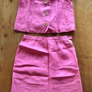 昭和レトロ ビンテージ半袖スーツ【ピンク】差し上げます。
