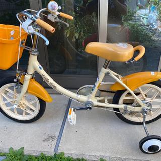 【ネット決済】子供用自転車 14インチ 補助輪付き 女の子用