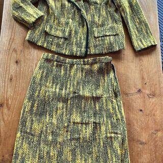 昭和レトロ ビンテージスーツ【黄色×黒】差し上げます。