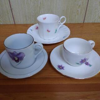 ✣0円✣ コーヒーカップ ばらばら 3客