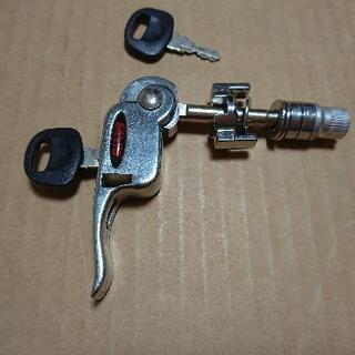 自転車、シートポスト盗難防止 鍵    サドル