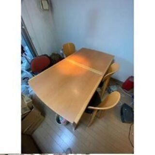 ダイニングテーブルセット セットの椅子は3脚しかありません