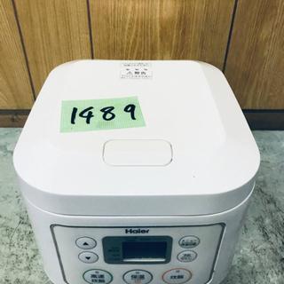 1489番 Haier✨マイコンジャー炊飯器✨JJ-M30B‼️