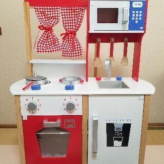 【ネット決済】木製おままごとキッチン