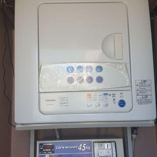 TOSHIBA 電気衣類乾燥機 6kg ED-60C(W)