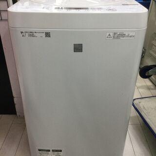 中古の洗濯機 SHARP ES-G4E6-KW 2018年製です。