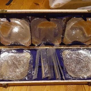 【決定 無料】銀食器 お菓子皿+フォーク 5客セット