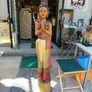 決まりました! 木製 タイの人形 置物