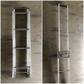 【使用自在❗️】ステンレス製 折りたたみ式はしご マリン