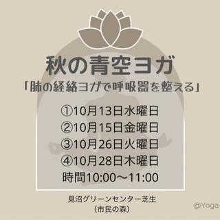 秋の外ヨガ500円