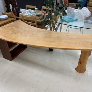 1枚板 木製 ダイニングテーブル キッチンカウンター 木目 Y10