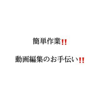 【在宅簡単作業!】動画編集のテロップ入れ SNSのアカウント作成...