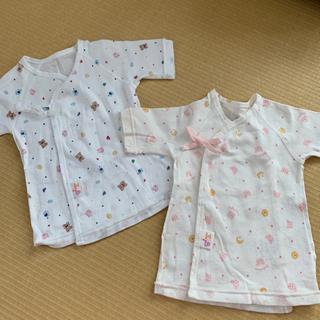 赤ちゃんの城 短肌着 50〜70㎝ 新生児 2セット