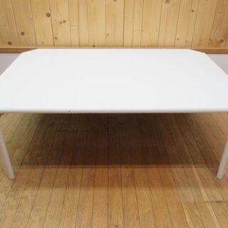 htp-692 折脚テーブル ホワイト 鏡面仕上げ ローテーブル...