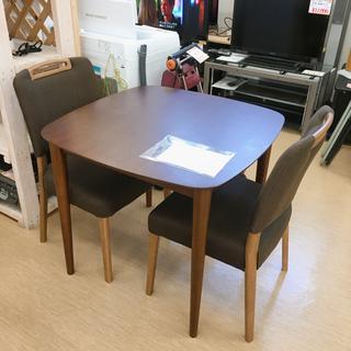 ダイニング3点セット✨椅子2脚付き✨落ち着いた色合いのテーブルセ...