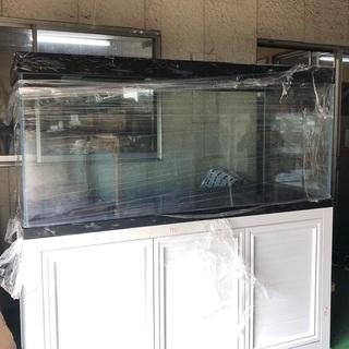 【ネット決済・配送可】1800mmオーバーフロー用水槽 高透過ガ...