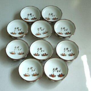 カニ模様の醤油皿 10個セット