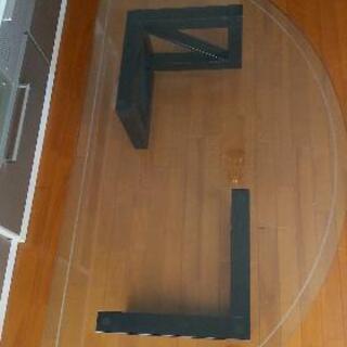 マルニ家具のガラステーブル