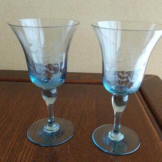 北一硝子のワイングラス2個