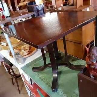 レトロ カフェテーブル 木製 ダイニングテーブル 1本脚 /DJ...