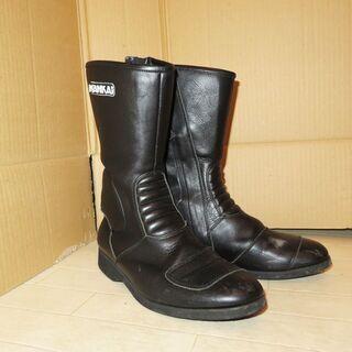 【引取限定】NANKAI ライダースブーツ黒 USED サイズ不...