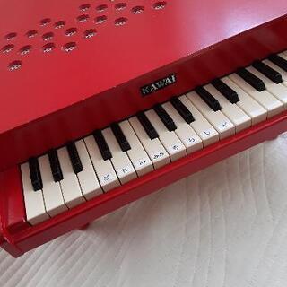 KAWAI ミニピアノ 赤