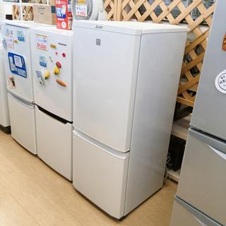 三菱 146L 2ドア冷蔵庫✨MR-P15EZ-KW✨2016年...