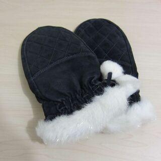 スウェード手袋 黒