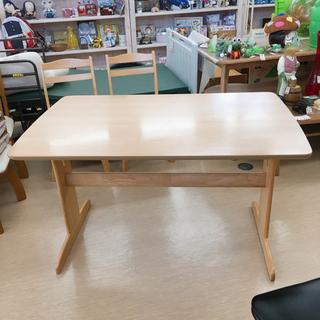 木製ダイニングテーブル✨ナフコ✨単品 ライトベージュ✨幅120×...