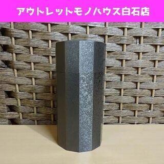 瑞峰 茶筒 鋳銅製 高さ約14.5cm 12面取 茶入れ 茶器 ...