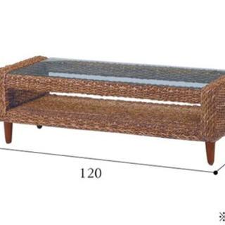 【ネット決済】【アジアン雑貨】、【バリ風家具】アバカ素材のローテーブル