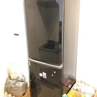 2010年製 三菱ノンフロン冷凍冷蔵庫 MR-C37R-B