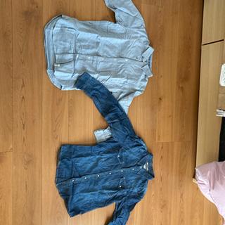 メンズシャツ2枚 タケオキクチ(TK)とアズール 小さめ