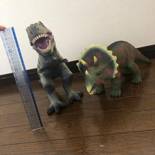 恐竜 2体 大型 フィギュア