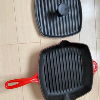 ル・クルーゼ ステーキパンと両面焼き可能な鉄板