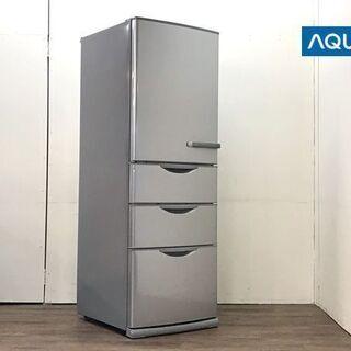 【ネット決済】《綺麗です》アクア 355L 4ドア冷蔵庫(左開き...
