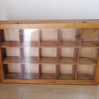 コレクションケース ショーケース フィギュア ミニカー 木製