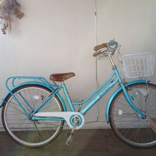 24インチ 女の子用自転車 オートライト付き