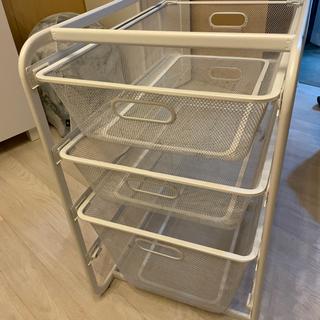週末限定大幅値下げ。廃盤品 IKEA アルゴート3段収納 …