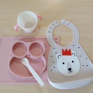 乳児幼児用エプロン食器