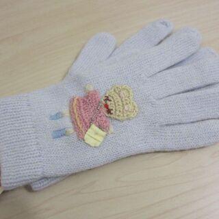 手袋 ウール 人形柄