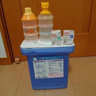 ミルトン容器(難あり) ミルクケース2個 ピジョン乳首LとY