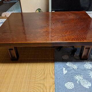 天然木座卓