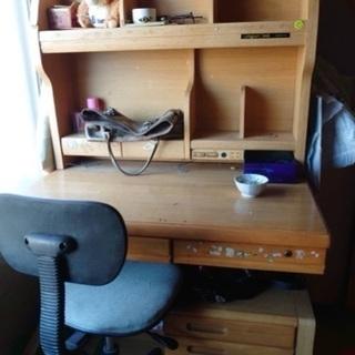 値下げしました→学習机と椅子のセット