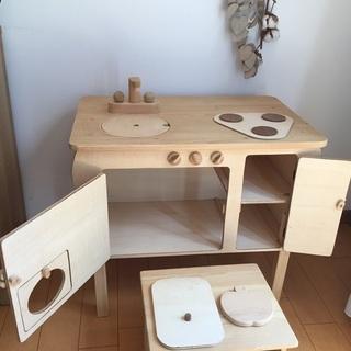 ままごと キッチン 机 木製 知育玩具 インテリア